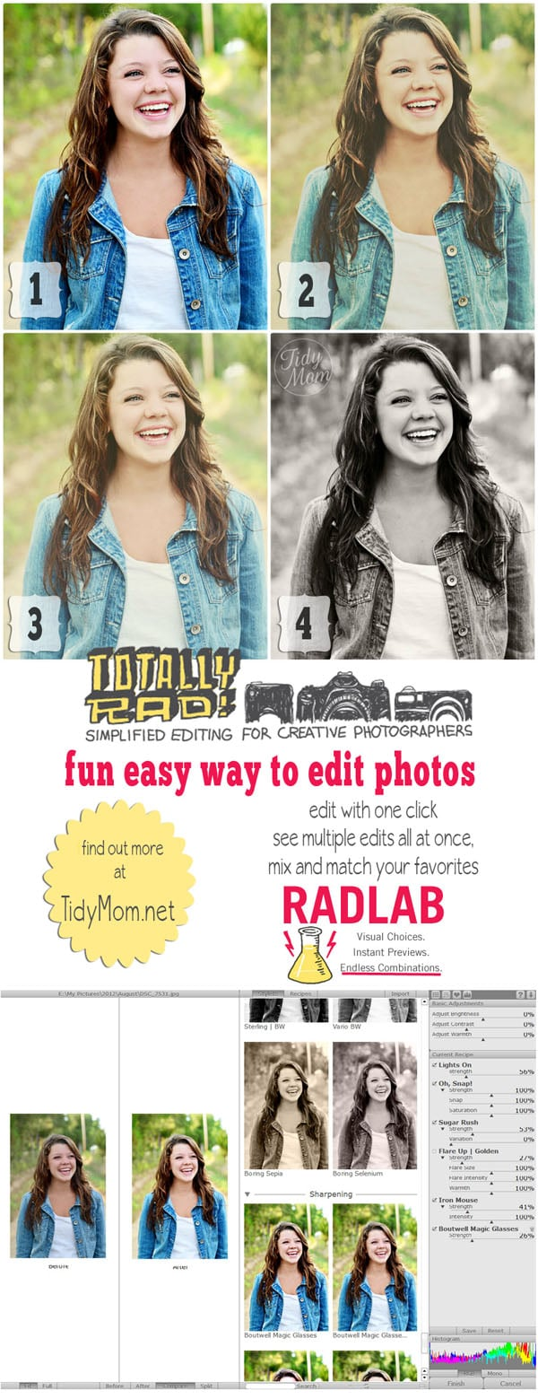 How to easily edit photos with Rad Lab at TidyMom.net