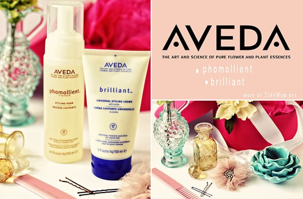 TidyMom favorite Aveda Hair styling products