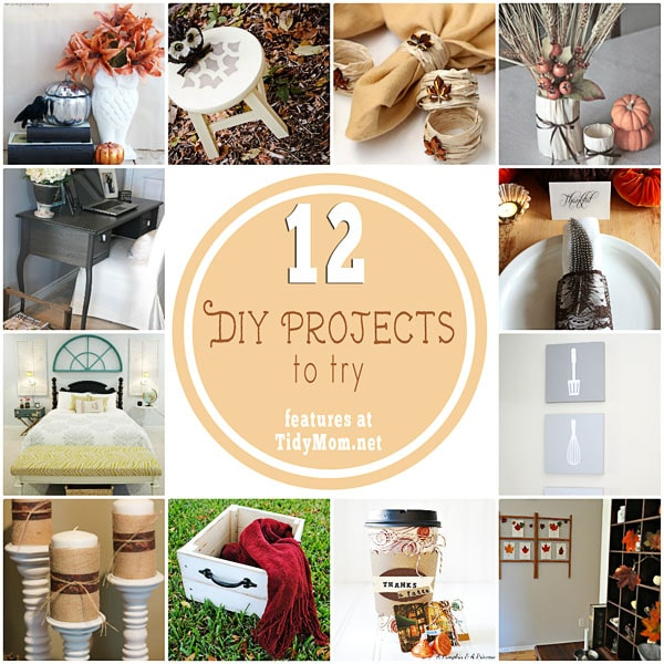 12 Creative DIY Projects to try at TidyMom.net