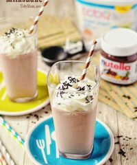Banana Nutella Milkshake recipe at TidyMom.net