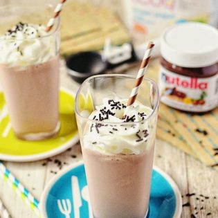 Banana Nutella Milkshake recipe at TidyMom.net