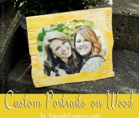Custom Portrait on Wood for TidyMom by Amanda Formaro
