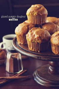 Glazed Pumpkin Doughnut Muffin Recipe TidyMom.net