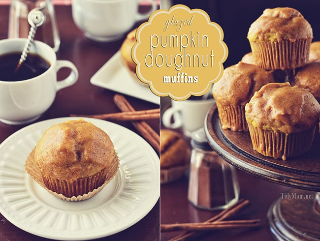 desktop themes: TidyMom: Glazed Pumpkin Doughnut Muffins