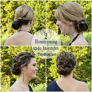 Homecoming Hairstyles at TidyMom