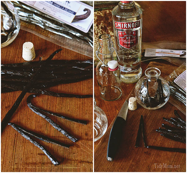 Making Homemade Vanilla at TidyMom.net