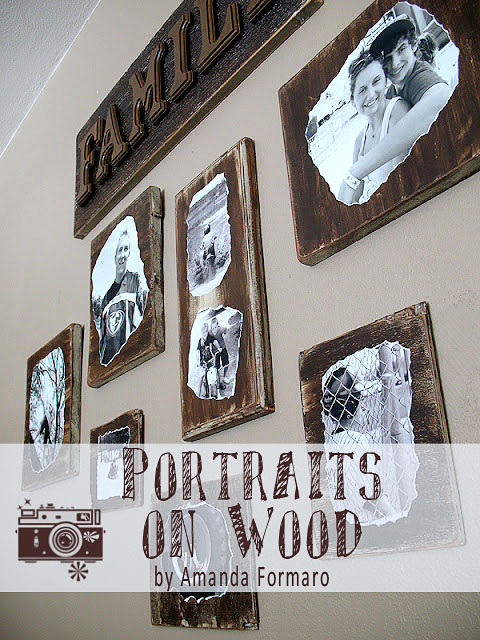 Portraits on Wood by Amanda Formaro