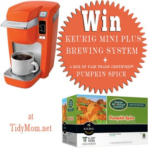 Win a Keurig Mini Plus Brewing System at TidyMom.net
