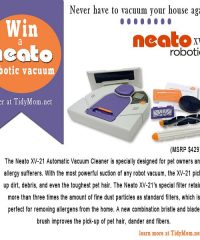 Win a Neato Robotic Vacuum at TidyMom.net