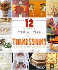 12 Creative Ideas for Thanksgiving at TidyMom.net