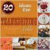 20 Ideas for Thanksgiving Table at TidyMom.net