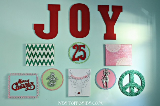 Make a #Christmas Gallery Wall at TidyMom.net with NestofPosies.com