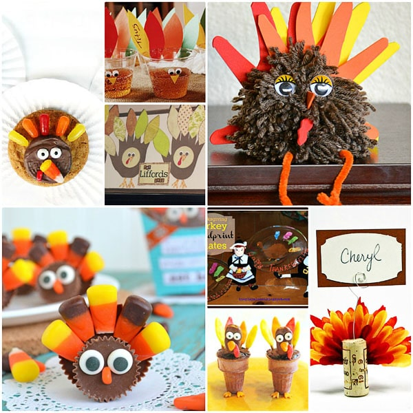 Thanksgiving Turkey treats and crafts at TidyMom.net