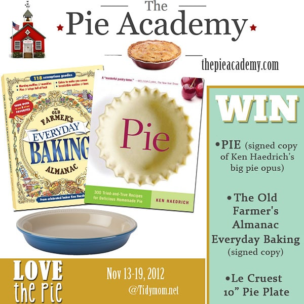 The Pie Academy Giveaway at TidyMom.net #LovethePie