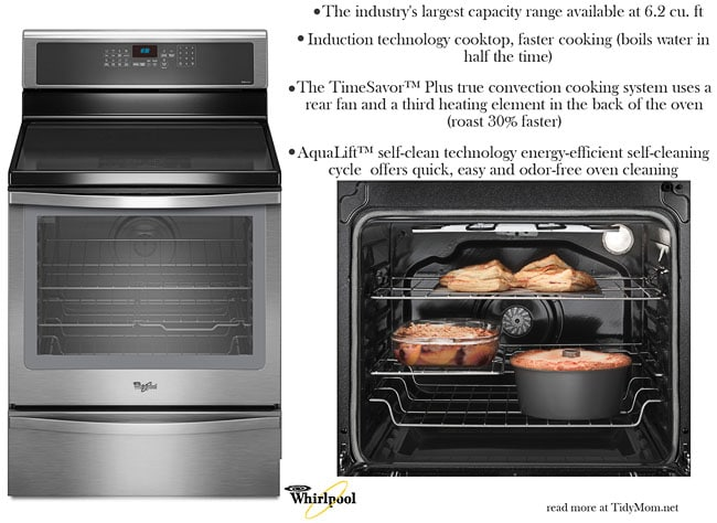 Whirlpool Induction Range with Convection Cooking at TidyMom.net