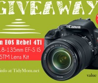 Canon EOS Rebel T4i Giveaway at TidyMom.net