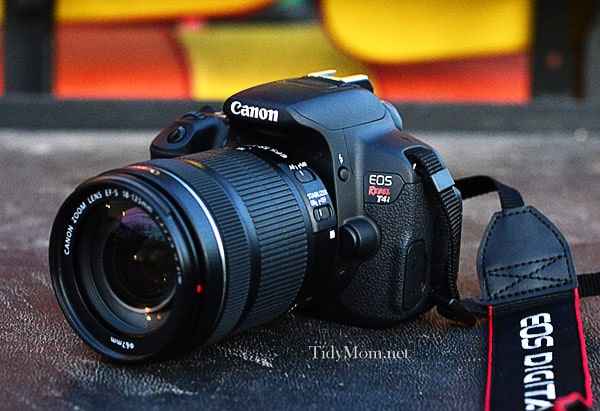 Canon EOS Rebel T4i Kit at Tidymom.net