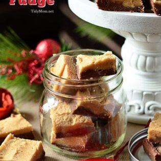 Chocolate Peanut Butter Fudge Recipe at TidyMom.net