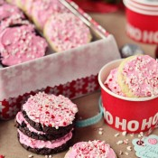 Easy Peppermint Cake Mix Cookies at TidyMom.net