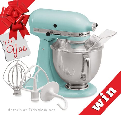 KitchenAid 5-Quart Mixer Giveaway at TidyMom.net