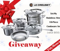 LeCreuset Cookware (value $650) Giveaway at TidyMom.net