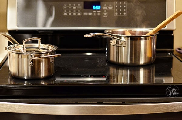 LeCreuset Cookware on Whirlpool induction range at TidyMom.net