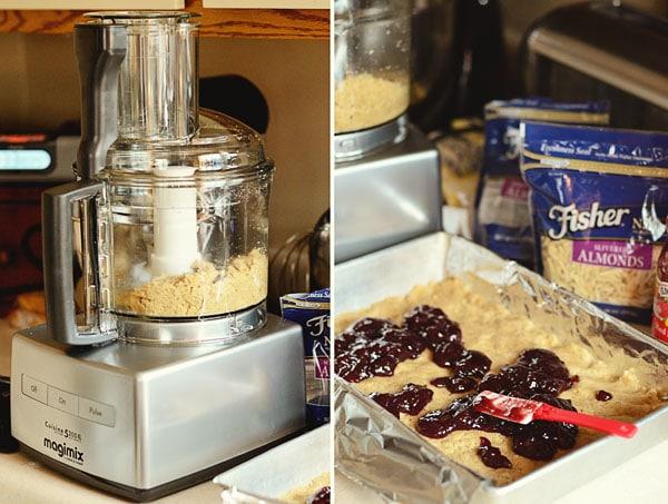 Making Raspberry Almond Bars