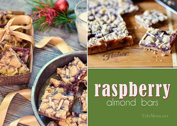 Raspberry Almond Bar recipe at Tidymom.net