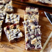 Raspberry Almond Bars recipe at Tidymom.net