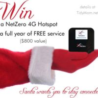Win a NetZero Hotspot + a FREE year of Service at TidyMom.net