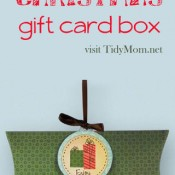 easy printable Christmas gift card box at TidyMom.net