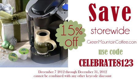 greenmountaincoffee.com Dec 2012 discount coupon code