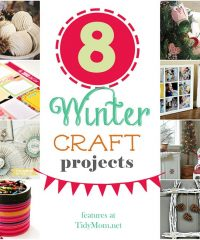 8 Winter Craft Projects at TidyMom.net