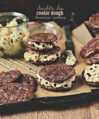 Chocolate Chip Cookie Dough Brownie Cookies at TidyMom.net