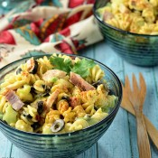 Creamy Italian Skroodle Salad recipe at TidyMom.net