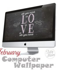 FREE February Background Wallpaper at TidyMom