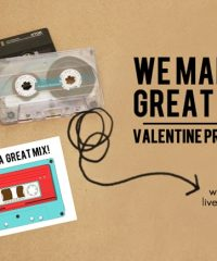 Free printable Mixed Tape Valentines