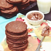Salted Chocolate Nutella Sandwich Cookie