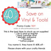 Silhouette sale- 40% off supplies with code TIDY
