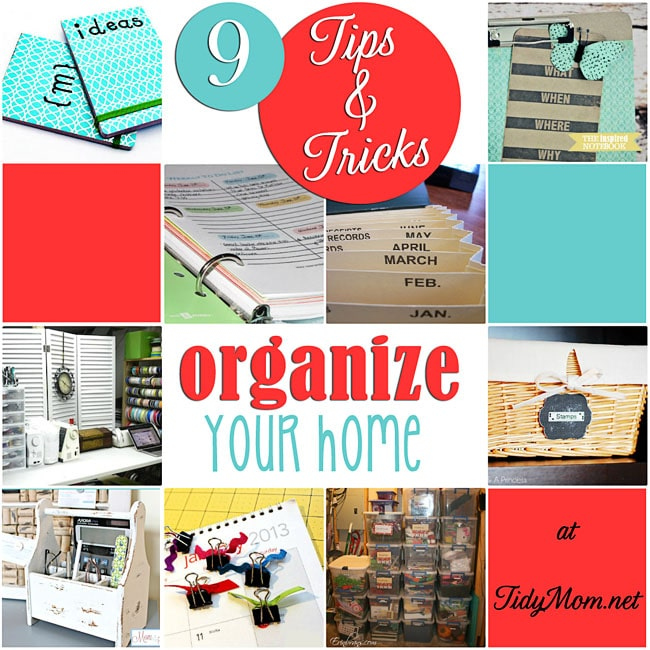 tips to organize your home at tidymomnet - How To Organize Your Home