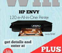 Win an HP Envy Printer + $50 Snapfish GC at TidyMom.net