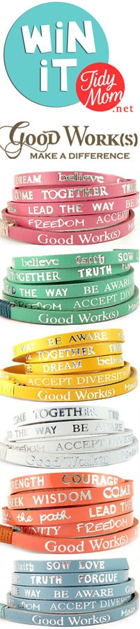 Win a Good Works Bracelet at TidyMom.net