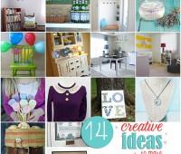 14 creative ideas to make at TidyMom.net
