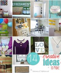 14 creative ideas to make at TidyMom.net