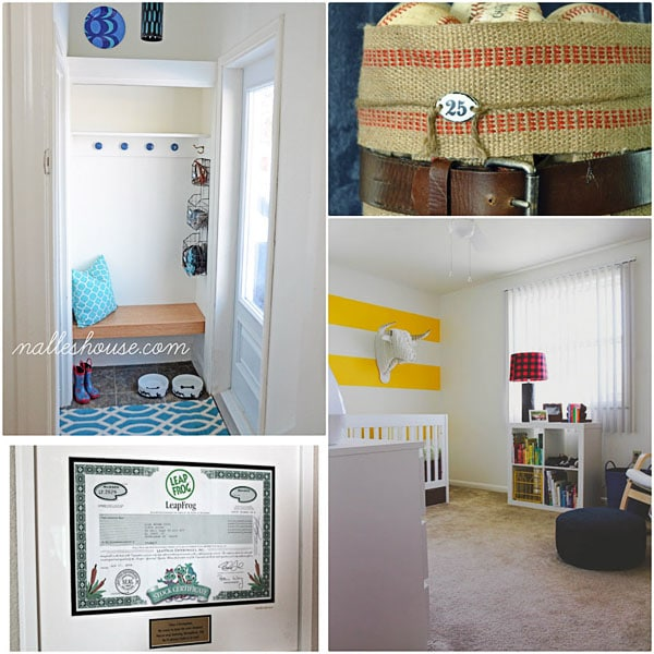 Diy Mini Mudroom At Nalle S House Jute Webbing Basket