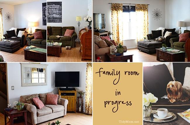 Family Room in Progress at TidyMom