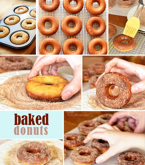 Baked donuts at home , using a donut pan are super easy ...