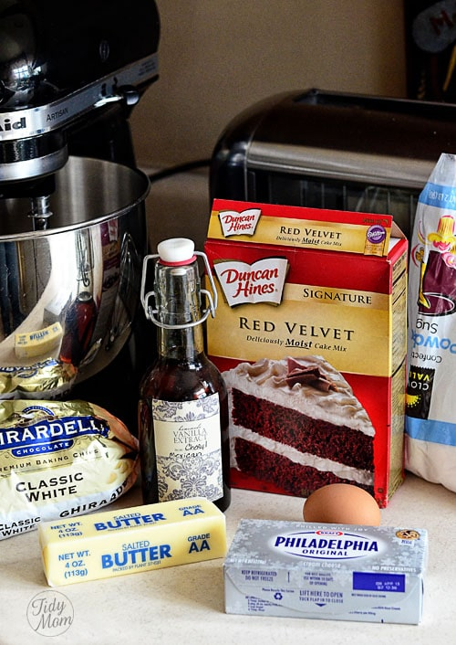 Red Velvet Gooey Butter Cookie Ingredients TidyMom