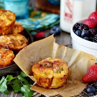 Southwest Baked Egg Cups #recipe at TidyMom.net