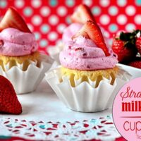 Strawberry Milkshake Cupcakes TidyMom